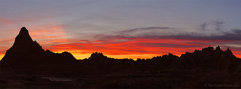 R5 and RF 100-500 L Capture a Gnarly Mountain Sunset Silhouette in Badlands National Park