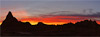 A Gnarly Mountain Sunset Silhouette in Badlands National Park