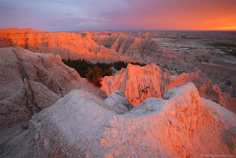 When Bad is Good, R5 and RF 15-35 Capture Sunset in Badlands National Park