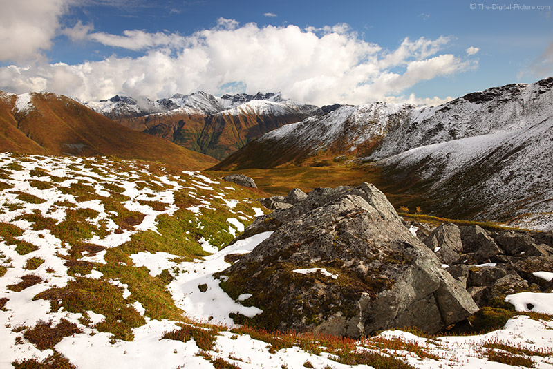 Canon EOS R5 Captures Snow Capped Mountains at Hatcher Pass, Mat-Su Valley, Alaska