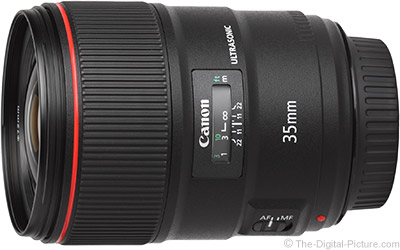 Canon EF 35mm f/1.4L II USM Lens MTF Average and Variance