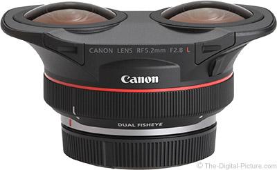 Canon RF 5.2mm F2.8 L Dual Fisheye Lens