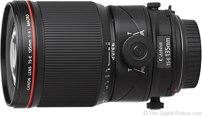 Canon TS-E 135mm f/4L Macro Tilt-Shift Lens In Stock at B&H