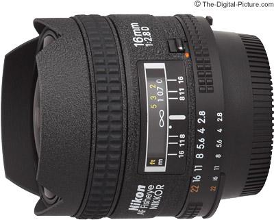 Nikon 16mm f/2.8D AF Fisheye Lens