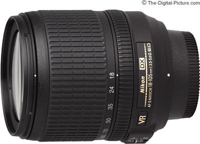 Nikon 18-105mm f/3.5-5.6G AF-S VR DX Lens