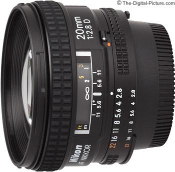 Nikon 20mm f/2.8D AF Lens