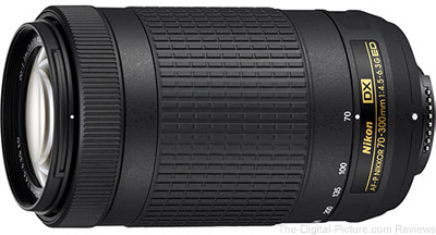 Nikon 70-300mm f/4.5-6.3G AF-P ED DX Lens