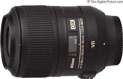 Nikon 85mm f/3.5G AF-S DX VR Micro Lens
