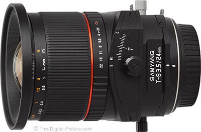 Rokinon (Samyang) 24mm f/3.5 Tilt-Shift Lens