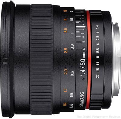 Rokinon (Samyang) 50mm f/1.4 AS UMC Lens