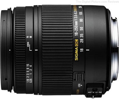 Sigma 18-250mm f/3.5-6.3 DC Macro OS HSM for Canon EF