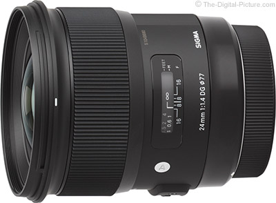 Sigma 24mm f/1.4 DG HSM Art Lens