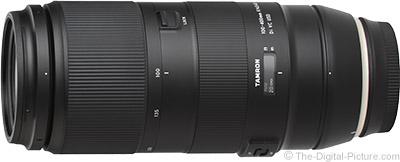 Tamron 100-400mm f/4.5-6.3 Di VC USD Lens