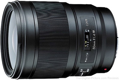 Tokina 50mm f/1.4 FF Opera Lens