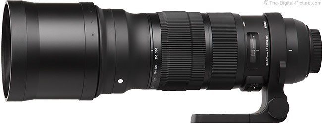 Sigma 120-300mm f/2.8 DG OS HSM Sports Lens Product Images