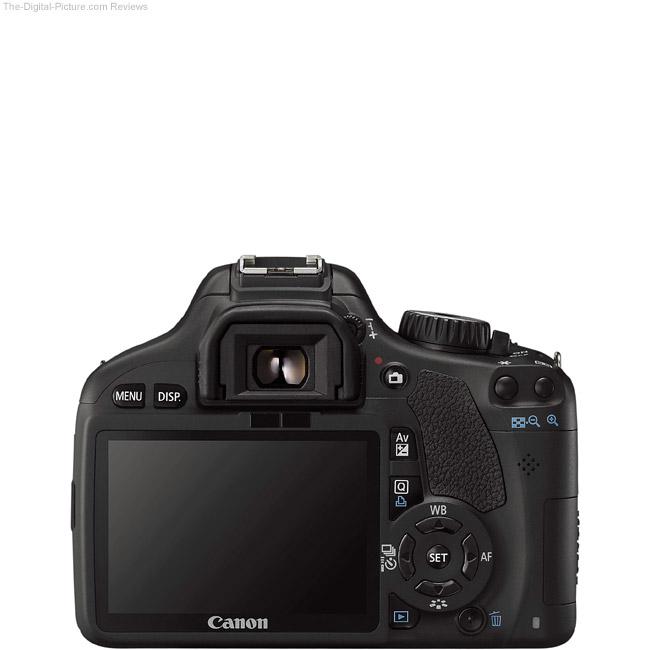 Canon EOS Rebel T2i / 550D Back View Comparison