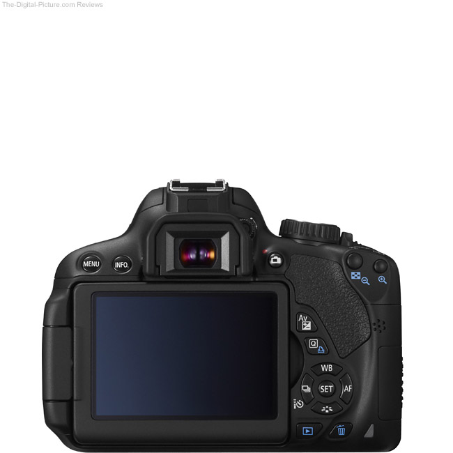 Canon EOS Rebel T4i / 650D Back View Comparison