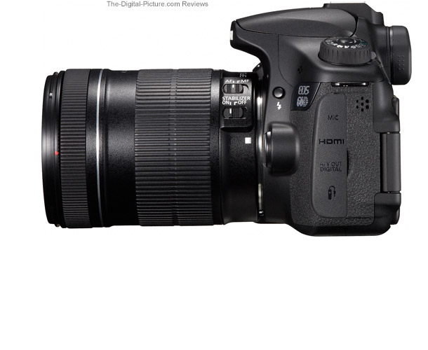 Canon EOS 60D Side View Comparison