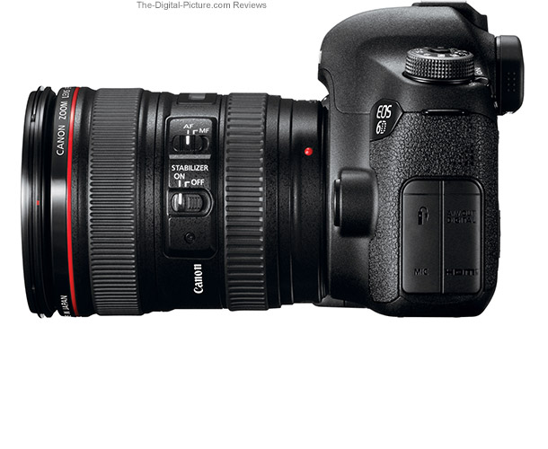 Canon EOS 6D Side View Comparison