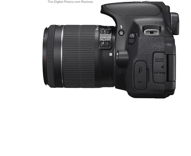 Canon EOS Rebel T5i / 700D Side View Comparison