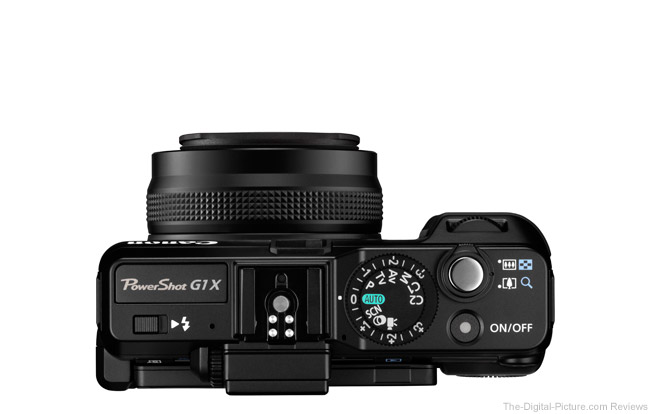 Canon PowerShot G1 X Top View Comparison
