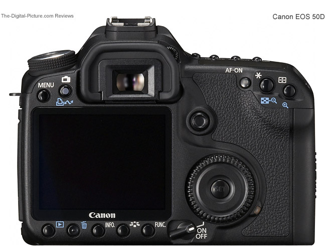 Canon EOS 50D Back Comparison
