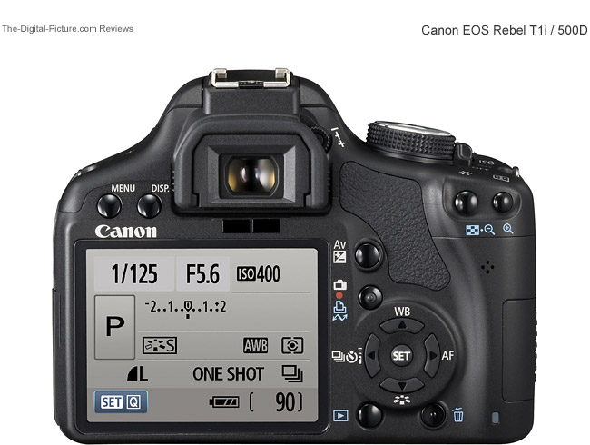 Canon EOS Rebel T1i / 500D Back View Comparison