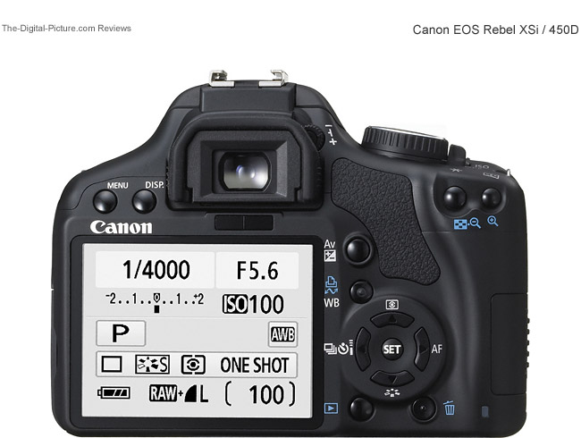 Canon EOS Rebel XSi / 450D Back Comparison