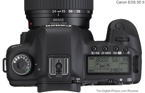 Canon EOS 5D Mark II Top Comparison