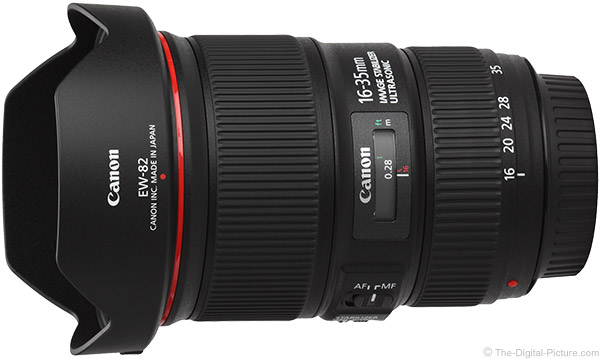 Canon EF 16-35mm f/4L IS USM Lens Product Images