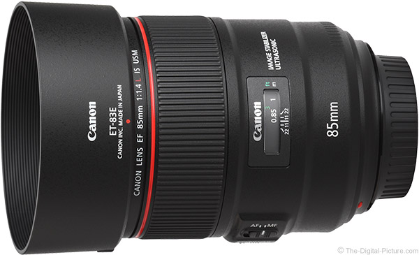 Canon EF 85mm f/1.4L IS USM Lens Product Images