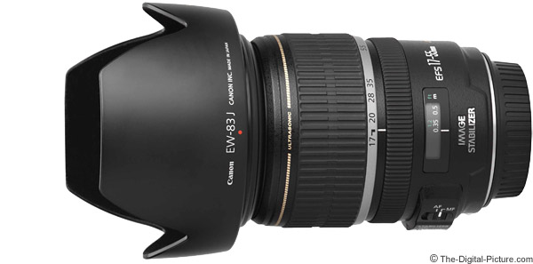 Canon EF-S 17-55mm f/2.8 IS USM Lens Product Images