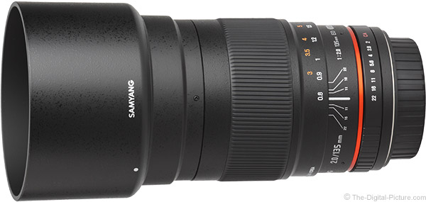 Samyang 135mm f/2 ED UMC Lens Product Images