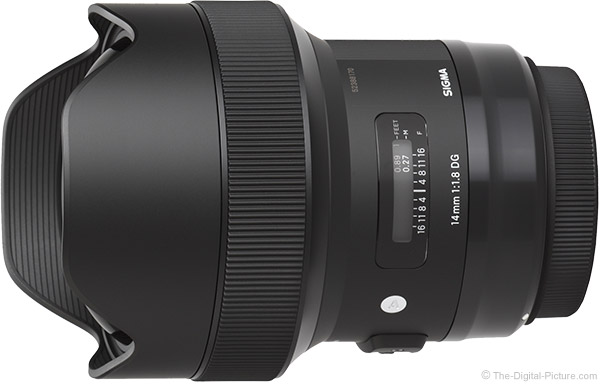 Sigma 14mm f/1.8 Art Lens Product Images