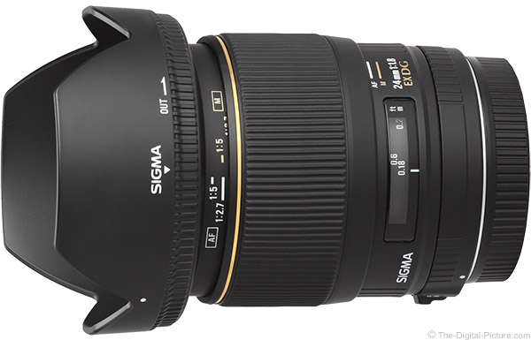 Sigma 24mm f/1.8 EX DG Lens Product Images