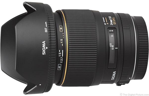 Sigma 24mm f/1.8 EX DG Lens Product Images