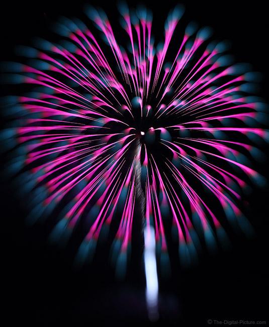 Sharp to Focus Blur Fireworks