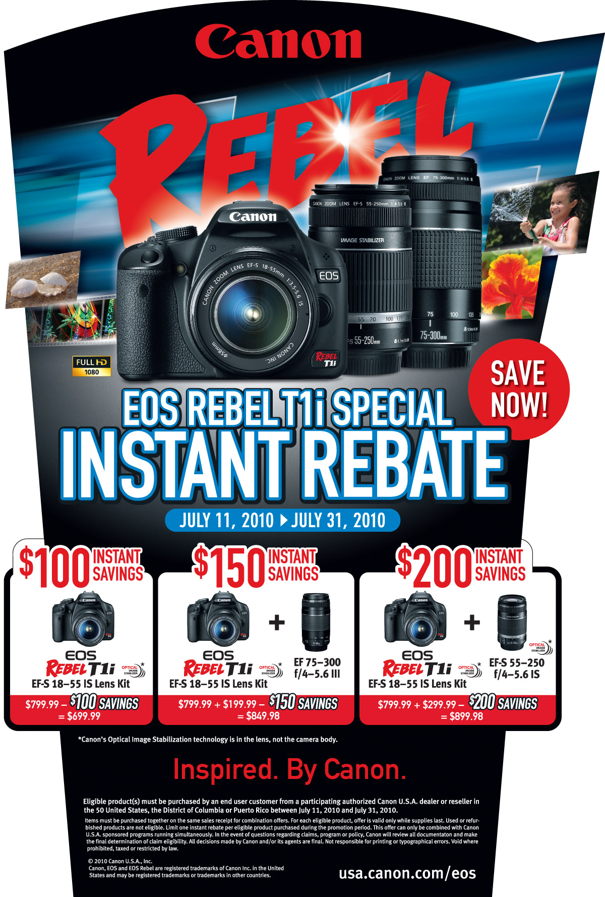 Canon, Nikon and Sony News for Jul 2010