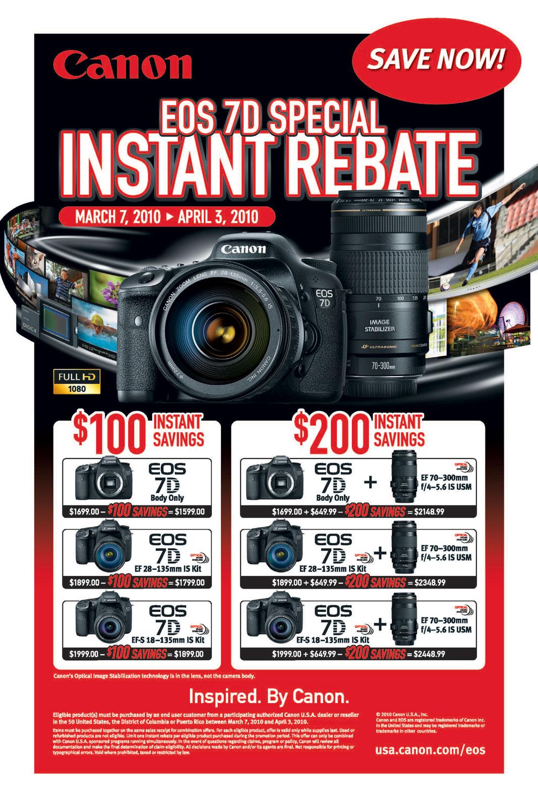 Canon Lens Rebates